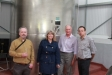 Harriett Baldwin is given a tour of the Oldfield Orchard Cider production facility in Frith Common